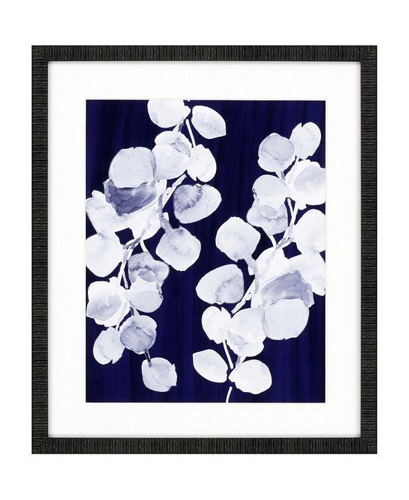 "Paragon Eucalyptus Leaves on Navy Framed Wall Art, 26"" x 22"""