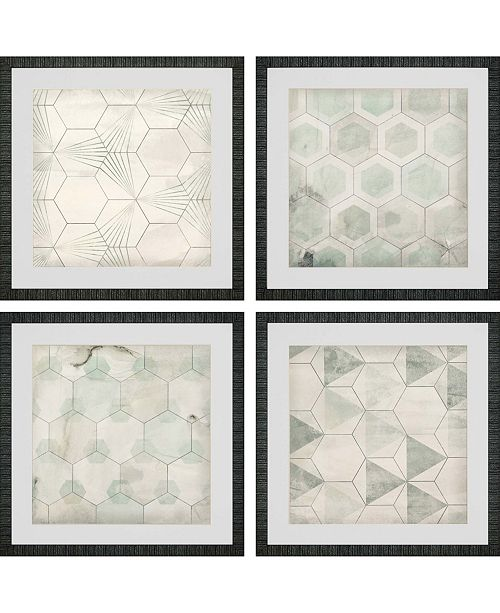 Paragon Hexagon Tiles Framed Wall Art