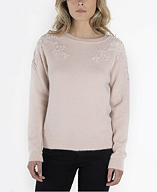 Long Sleeve Sweater with Embroidery Details