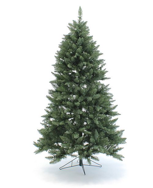 Perfect Holiday 7.5' Pre-Lit Christmas Tree with Multicolor LED Lights