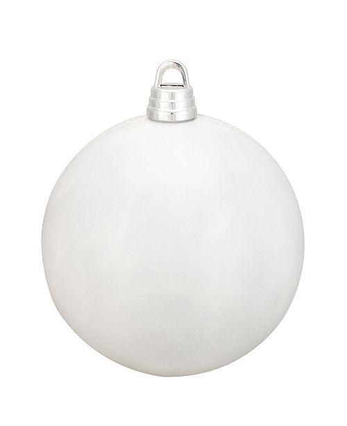 "Northlight Winter White Shatterproof Shiny Christmas Ball Ornament 12"" 300mm"