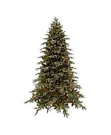 7.5' Pre-Lit Mont Blanc Fir Artificial Christmas Tree - Dual Color LED Lights
