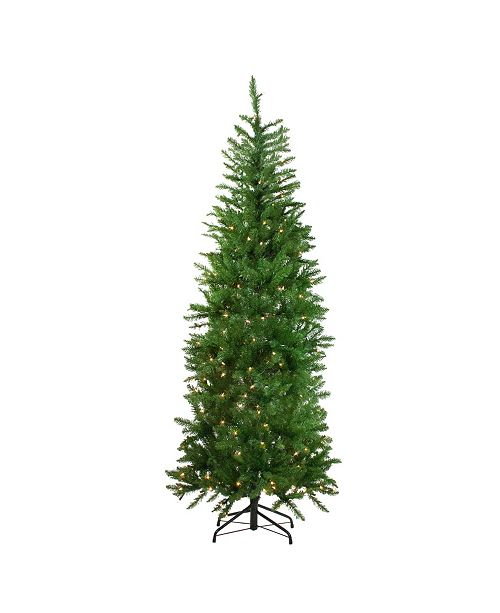 Northlight 7.5' Pre-Lit White River Fir Artificial Pencil Christmas Tree - Clear Lights