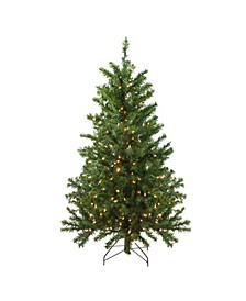 4' Pre-Lit Canadian Pine Artificial Christmas Tree - Clear Lights