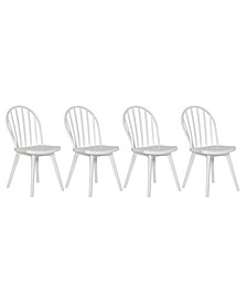 Fordham Armless Indoor/Outdoor Resin Windsor Dining Chairs in Set of 4