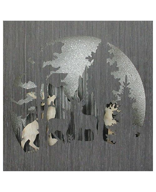 Northlight Glitter Winter Woodland Deer Christmas Shadow Box Table Decoration