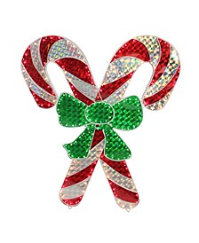 """48"""" Holographic Lighted Double Candy Cane Outdoor Christmas Decoration"""