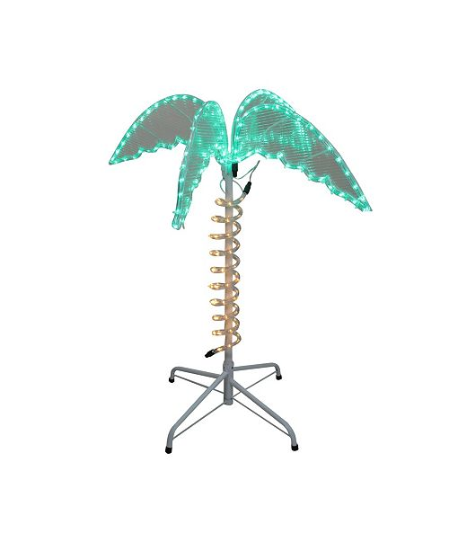Northlight 2.5' Green and Tan LED Palm Tree Rope Light Outdoor Decoration