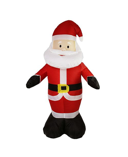Northlight 4' Inflatable Lighted Santa Claus Christmas Outdoor Decoration