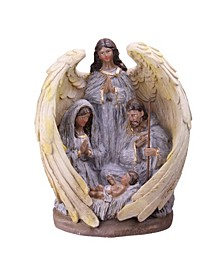 "11.25"" African-American Holy Family and Angel Christmas Nativity Table Decoration"
