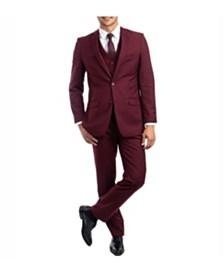 Azzuro Men's Slim Fit Notch Lapel Suit