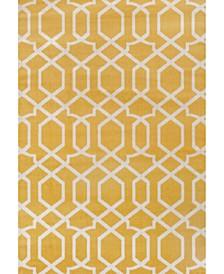 "Home Alba Alb304 Yellow 5'3"" x 7'3"" Area Rug"