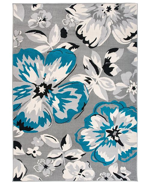 Main Street Rugs Home Haven Hav9098 Blue 10' x 14' Area Rug