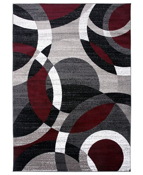 "Main Street Rugs Home Montane Mon105 Red 5'3"" x 7'3"" Area Rug"