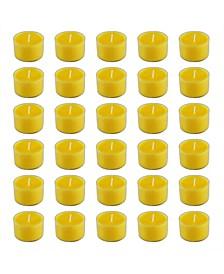Lumabase Citronella Extended Burn Tea Light Candles, Set of 30