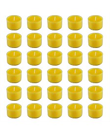 Lumabase Citronella Extended Burn Tea Light Candles, Set of 30