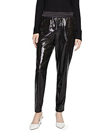 Night Fever Sequined Pull-On Pants