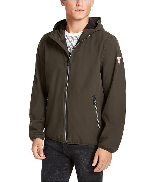 GUESS Men's Hooded Soft Shell Jacket