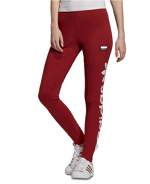 adidas leggings with logo on side