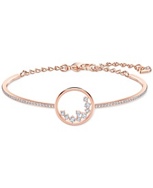 Rose Gold-Tone Crystal Circle Bangle Bracelet