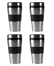 Orion Stainless Steel 16-Oz. Travel Mug, Set of 4