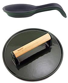 Cast Iron 2-Pc. BBQ Set