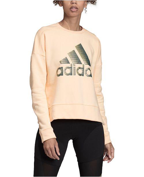 adidas Women's Glam-Logo Sweatshirt