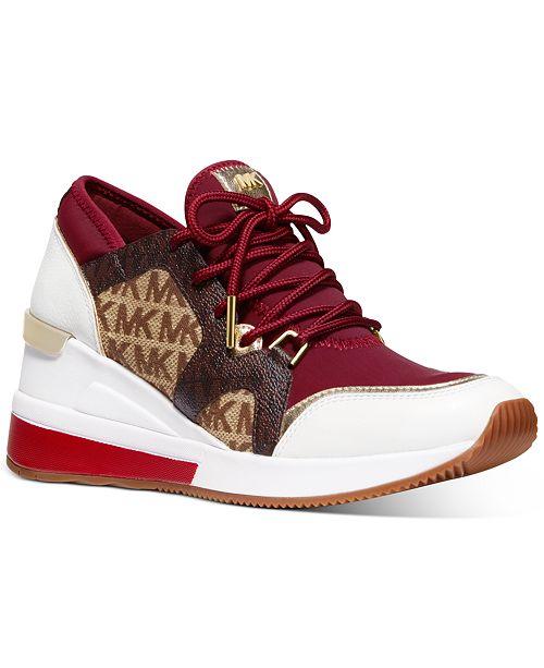 Michael Kors Liv Trainer Wedge Sneakers