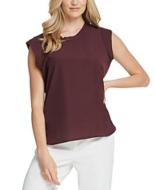 Foundation Flutter Cap-Sleeve Top
