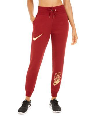 Women's Sportswear Shine Metallic Logo Sweatpants