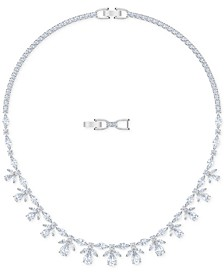 "Silver-Tone Crystal 14-7/8"" Collar Necklace"