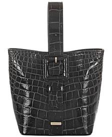 Faith Veil Leather Bucket Bag