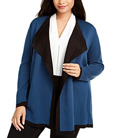 Plus Size Double-Face Cardigan