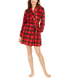 Women's Cozy Short Fleece Robe