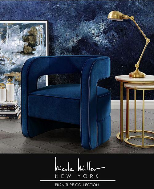 Outstanding Neil Velvet Barrel Accent Chair With Open Back Short Links Chair Design For Home Short Linksinfo