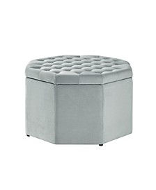 Silvia Upholstered Tufted Octagon Cocktail Ottoman