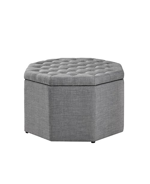 Amazing Silvia Upholstered Tufted Octagon Cocktail Ottoman Machost Co Dining Chair Design Ideas Machostcouk