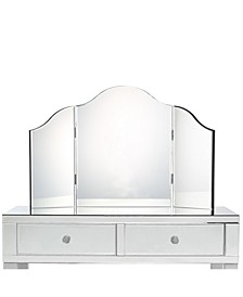 Giselle Tabletop Trifold Vanity Mirror