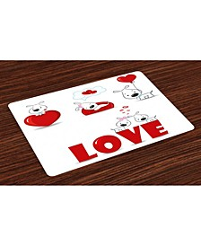 Valentines Day Place Mats, Set of 4