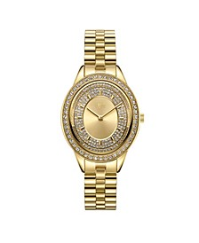 Women's Bellini Diamond (1/8 ct. t.w.) Watch in 18k Gold-plated Stainless-steel Watch 30mm