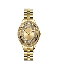 JBW Women's Bellini Diamond (1/8 ct. t.w.) Watch in 18k Gold-plated Stainless-steel Watch 30mm
