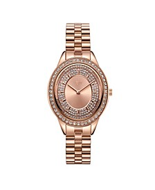 Women's Bellini Diamond (1/8 ct. t.w.) Watch in 18k Rose Gold-plated Stainless-steel Watch 30 Mm