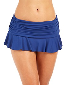 Ruffle-Hem Slimming Fit Swim Skirt