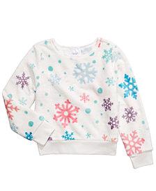 Evy of California Big Girls Plush Snowflake-Print Top