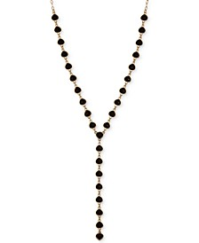 """Gold-Tone Stone Lariat Necklace, 30"""" + 2"""" extender"""