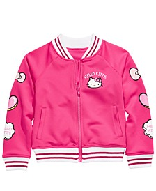 Little Girls Patch Bomber Jacket