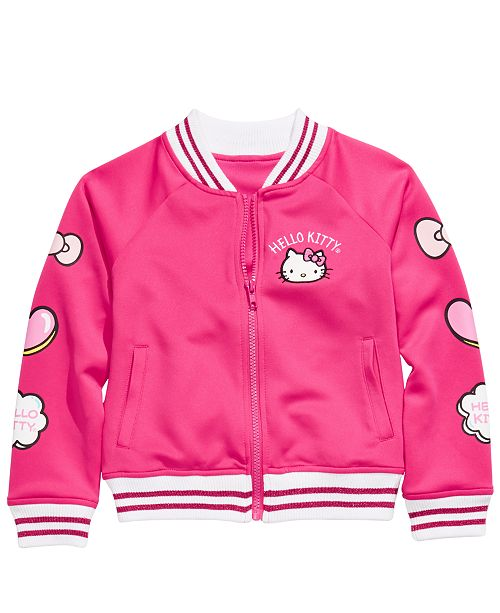 Hello Kitty Little Girls Patch Bomber Jacket