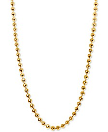 Beaded Ball Chain Necklaces in 14k Gold