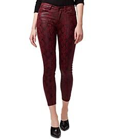 Social Standard Snakeskin-Print Skinny Jeans