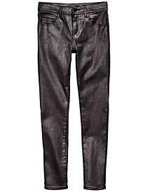Big Girls Metallic Skinny Jeans